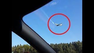 Самолет ЗАВИС в небе над Внуково