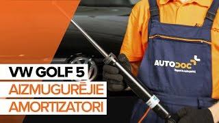 Kā nomainīt VW GOLF 5 Aizmugurējie amortizatori [PAMĀCĪBA]