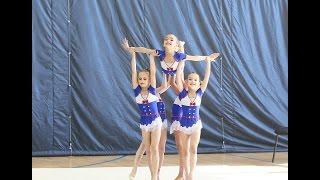 Художественная гимнастика групповое упражнение,дети 2005-2006 г.р Москва.Катерок