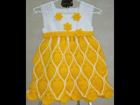 Vestido De Crochê Infantil Ate 2 Anos Parte 2