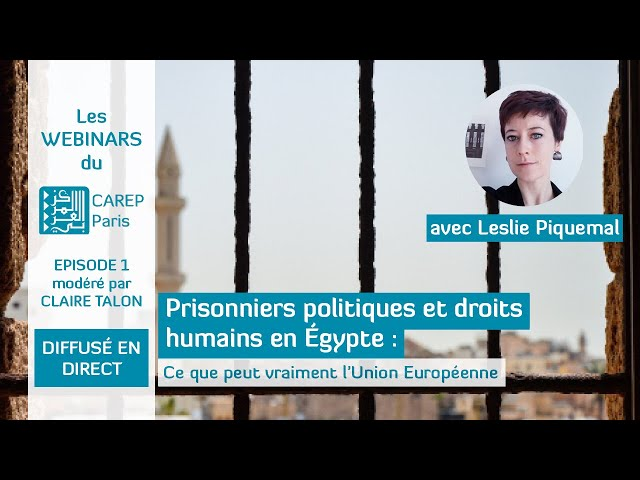 Webinar 1 : Prisonniers politiques et droits humains en Égypte