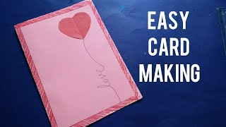 Easy paper card/How to make paper card/Easy paper crafts for kids/Paper card tutorial