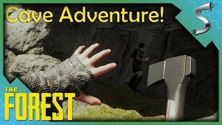 EXPLORING OUR FIRST CAVE! - The Forest [Gameplay E3]