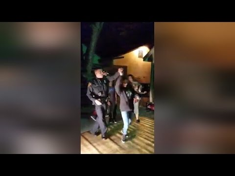 Police Officer Responds To Noise Complaint by Salsa Dancing With Kids