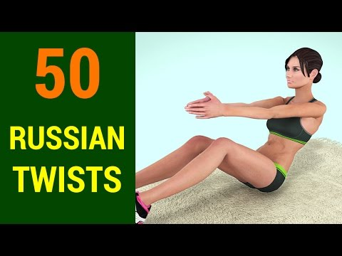 50 Russian Twists Challenge [Abs + Obliques +  Six Pack At Home]