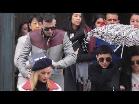 Johnny Hostile, Jehnny Beth, Romy Madley Croft @ Paris 4 march 2018 Fashion Week