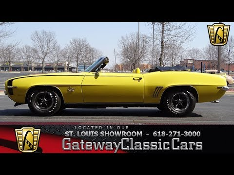 1969 Chevrolet Camaro RS/SS Convertible Stock #7652 Gateway Classic Cars St. Louis Showroom