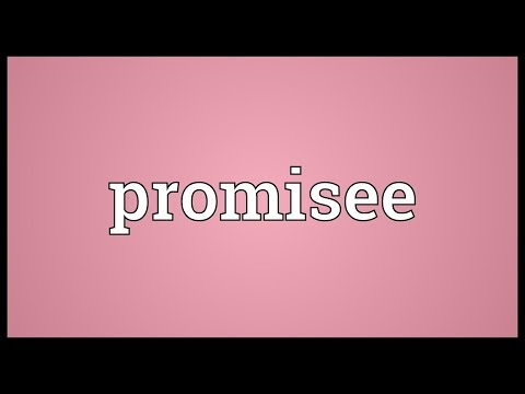 Promisee Meaning