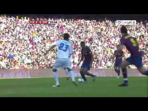 Liga BBVA - Barcelona vs Xerez 3-1 [24/04/10] Full Highlights and All Goals