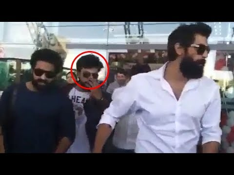 Ram Charan and Jr NTR Spotted @ Jaipur Airport Along With Rana | NTV Entertainment