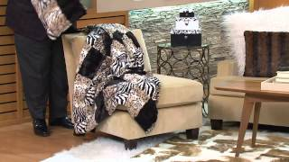 Dennis Basso Oversized Animal Print Faux Fur Throw  amp  Pillow Set with  Albany Irvin 9f35c65b80cc3