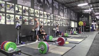 Greg Everett (105kg) - Last Heavy Workout Before 2015 Masters Nationals