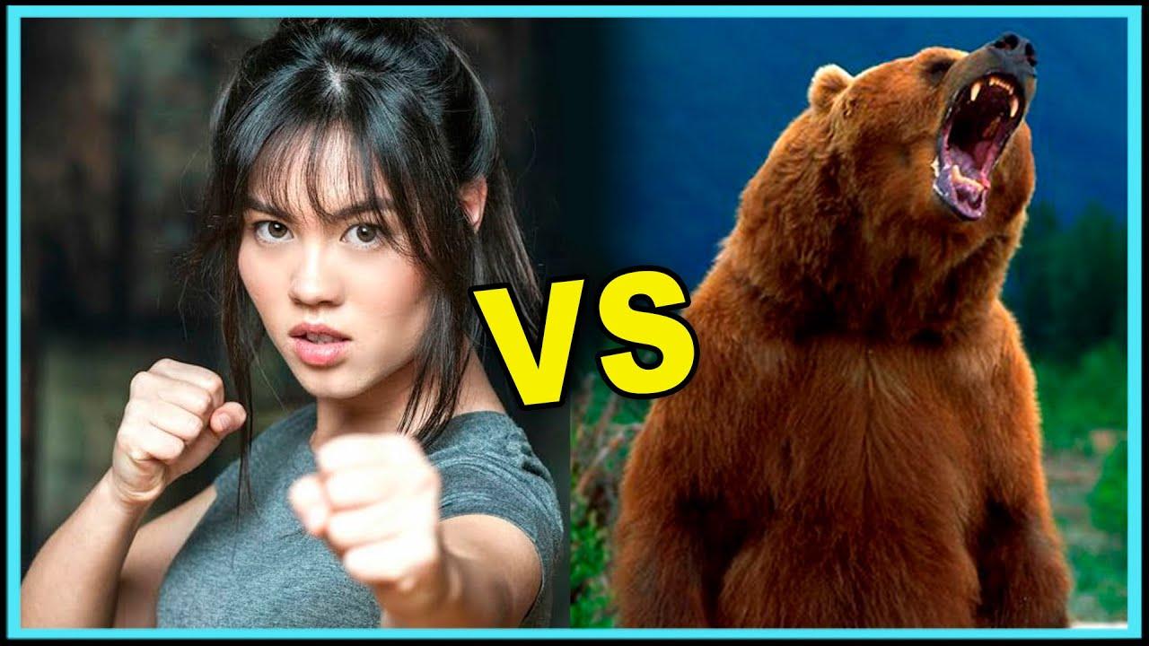 URSO ATACA CÃES E MULHER REVIDA - ANIMAIS VS KUNG-FU #urso