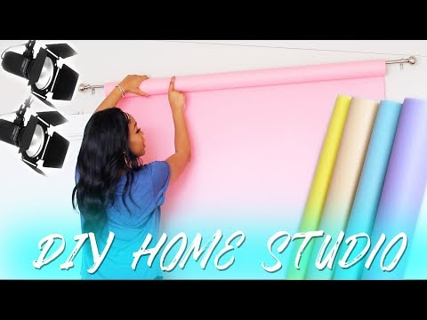DIY Home Studio for Youtube Videos  | Backdrops for Youtube Videos