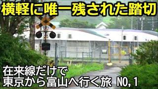 【廃線踏切】在来線だけで東京から富山へ行く旅 No,01【東京→軽井沢】