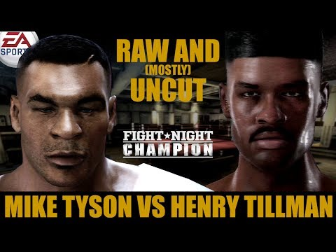 Mike Tyson vs Henry Tillman ★ Tyson Raw And [Mostly] Uncut ★ Full Fight Night Champion Simulation