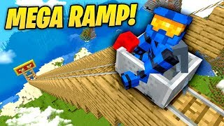 we attempted to make a Minecraft Mega Ramp...