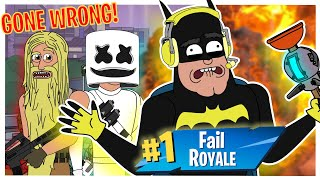 BATMAN PLAYS FORTNITE: HOW TO GET A VICTORY ROYALE! **GONE WRONG** (animation)