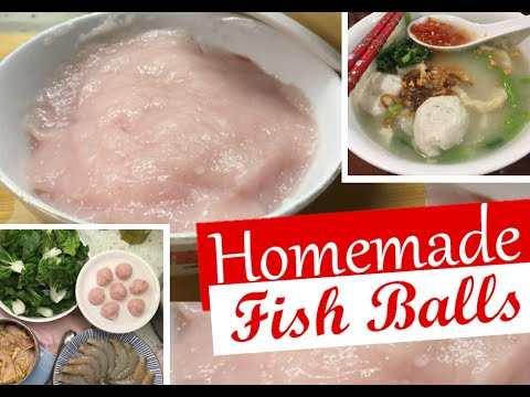 Bouncy Fish Balls Homemade From Fresh Mackerel Bebola Ikan Tenggiri Steamboat / Pan Mee / YongTau Fu