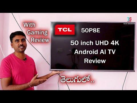 TCL 50 inch 4K UHD Android AI TV(50P8E) Review (Telugu)