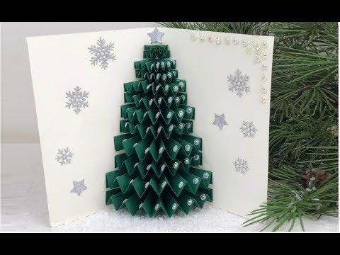 Alberi Di Natale Di Carta.Albero Di Natale In Carta 3d 3d Paper Christmas Tree Diy Christmas Tree Youtube