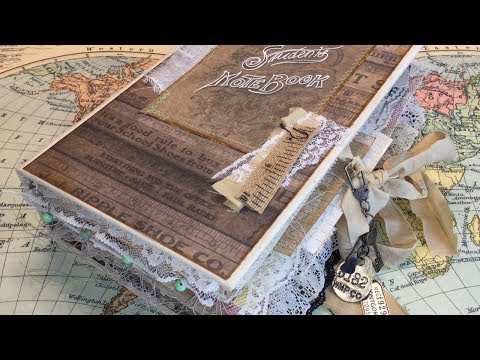 Vintage Student Notebook Junk Journal flip //  Live