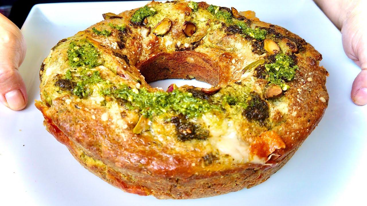 CIAMBELLA SOFFICISSIMA AL PESTO pronta in 5 minuti SAVORY PESTO CAKE