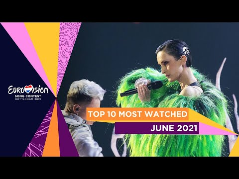 TOP 10: Most watched in June 2021 – Eurovision Song Contest
