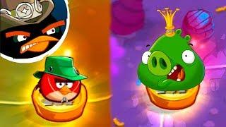 Король СВИНЕЙ в Энгри Бердс 2 #12 Туманная топь в бамбуковом лесу и Свинляндия в Angry Birds с Кидом