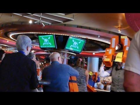 Cruise Ship Safety Video at Muster Drill & Zika Virus Warning (HD)