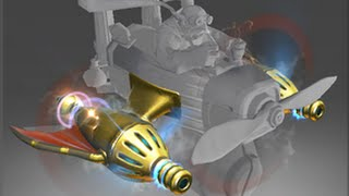 Dota 2 - Golden Atomic Ray Thrusters - Golden Gyro Immortal