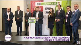 A Jobbik vezetése szerint következményei lesznek a kilépéseknek