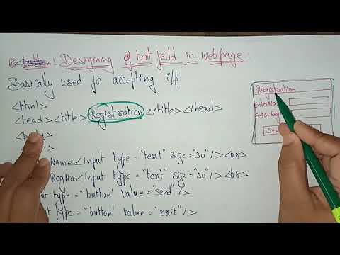 Form Tags In Html | Web Technology | Lec-11 | Bhanu Priya
