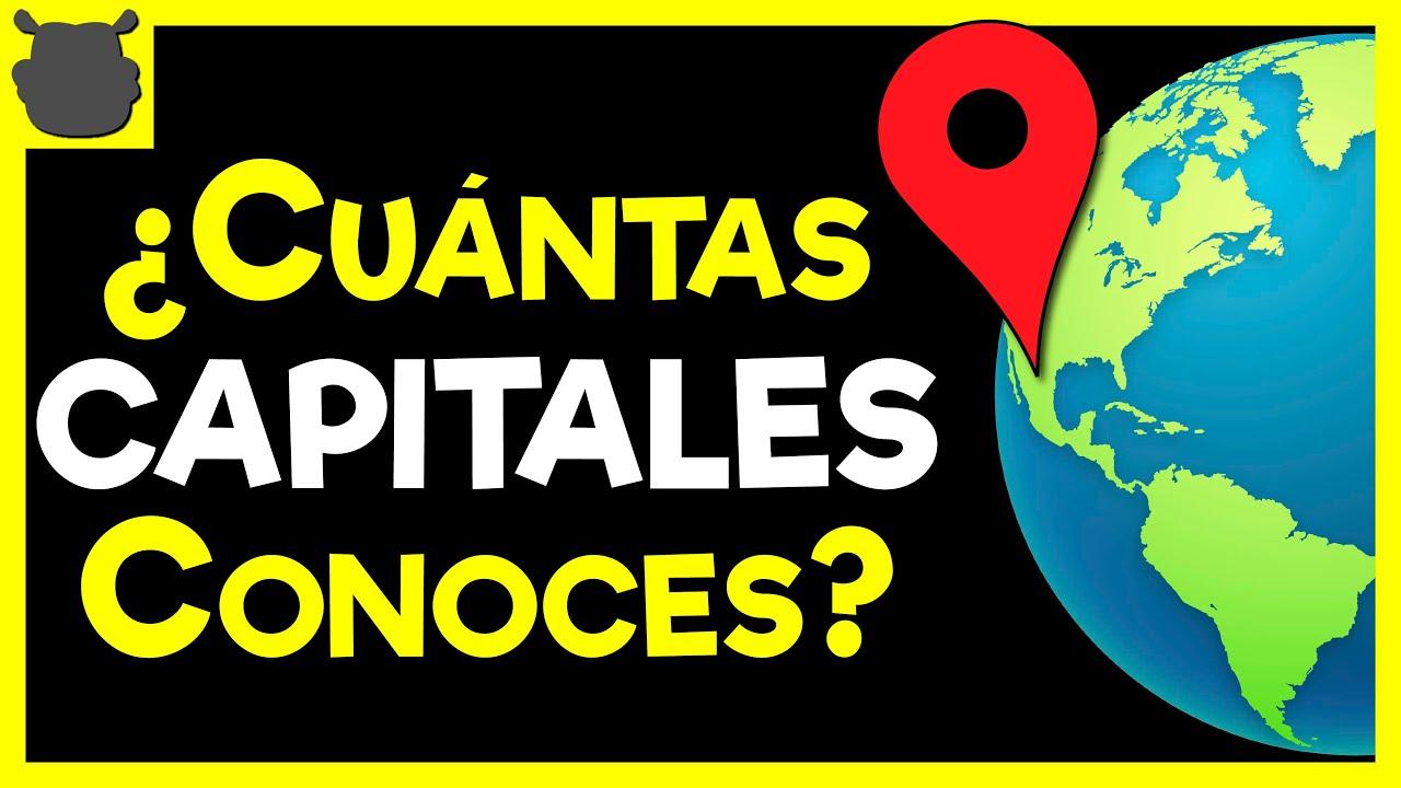 100 CAPITALES del Mundo 🌎🌍 ¿Cuántas capitales conoces? - Trivia
