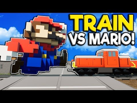 Idiots Use Mario to Stop the Lego Train in Brick Rigs Multiplayer  