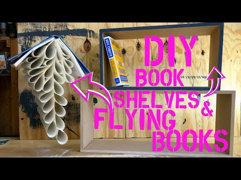 DIY Flying Books & Floating Shelves | Teacher Vlog