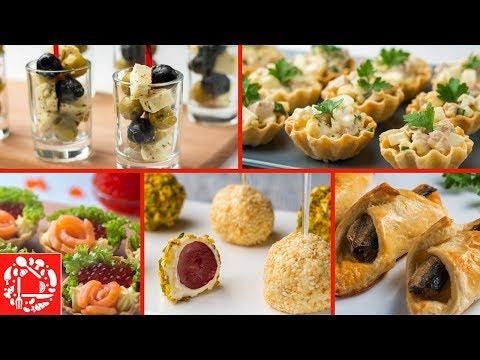 5 легких закусок для фуршета на День рождения! Часть 3. 🍢🍢🍢 Вкусно, Просто и Легко!