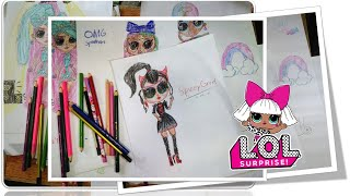 How to DRAW LΟL Surprise doll | Kids Edition...