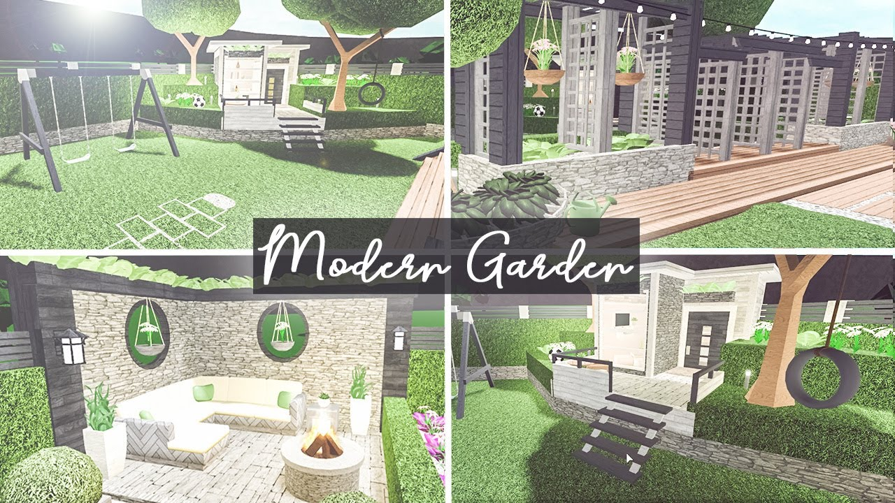 Bloxburg Backyard Ideas Pt 1 Modern Garden Youtube