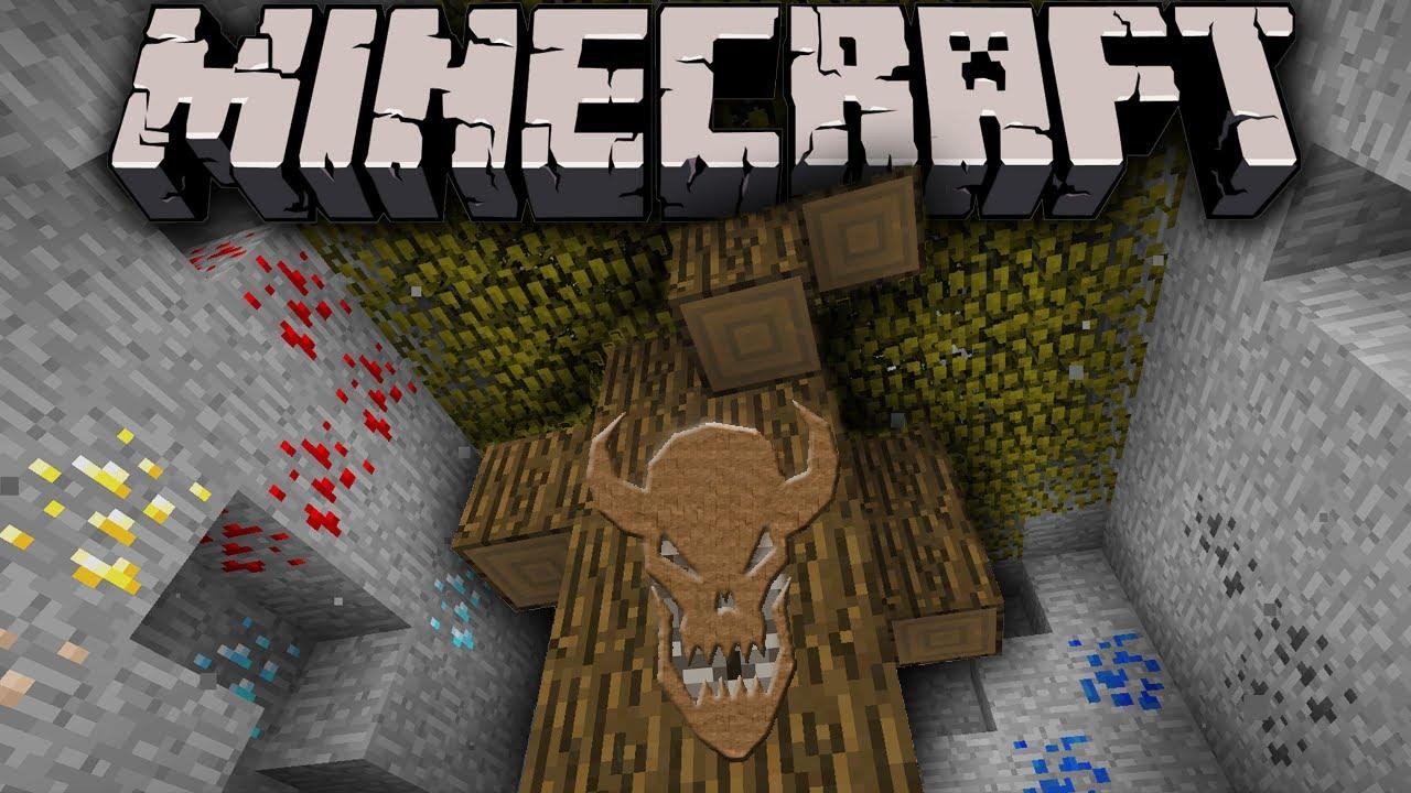 minecraft 17 break through bedrock in survival dark oak