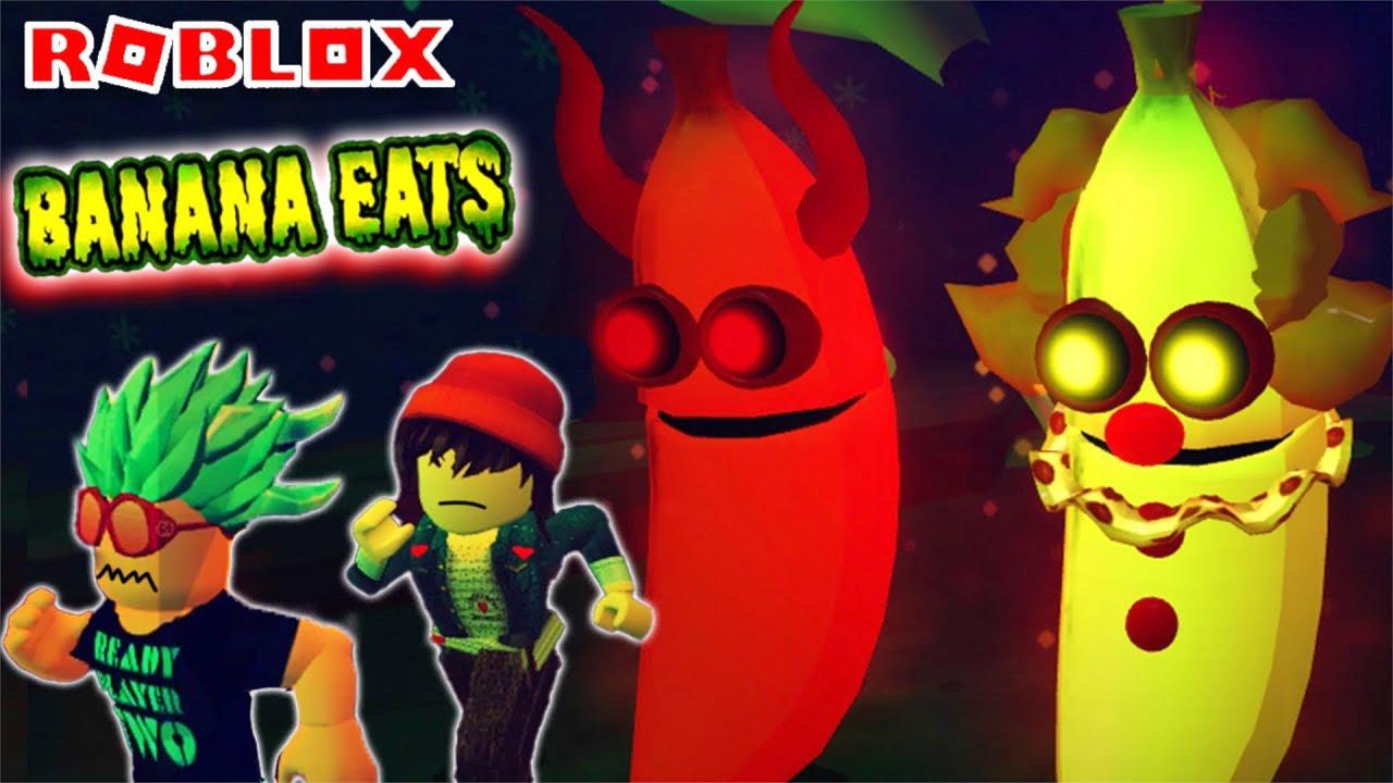 Los POLO huyen del duo diabolico en ROBLOX BANANA EATS