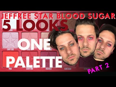 PART 2 !! 5 LOOKS WITH 1 PALETTE JEFFREE STAR COSMETICS BLOOD SUGAR PALETTE
