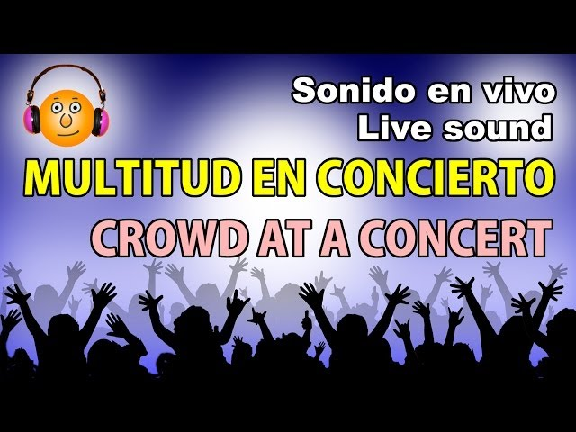 Gente gritando en un concierto-Sonido-People screaming at a concert Videos De Viajes