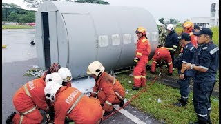 'Plane crash, chemical spill' in Kuching