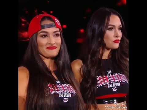 WWE Nikki Bella Brie Bella And Ronda Rousey Monday night raw Tonight 10/15/2018