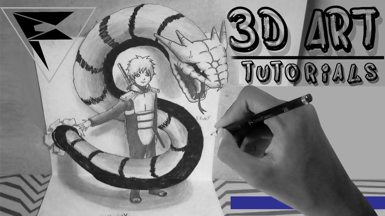 Drawing Mitsuki Fanart How To Drawing 3d Art Youtube