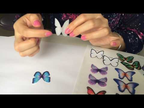 DIY Edible Wafer Double Butterfly