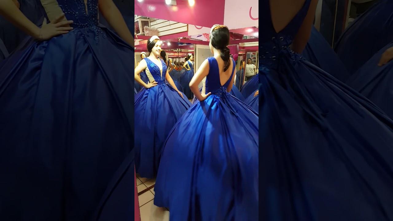 Vestido De Xv Años Azul Rey Youtube