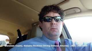 Crenshaw County, Alabama Reckless Driving Attorney - Lawyer for Crenshaw County, AL Reckless Driving