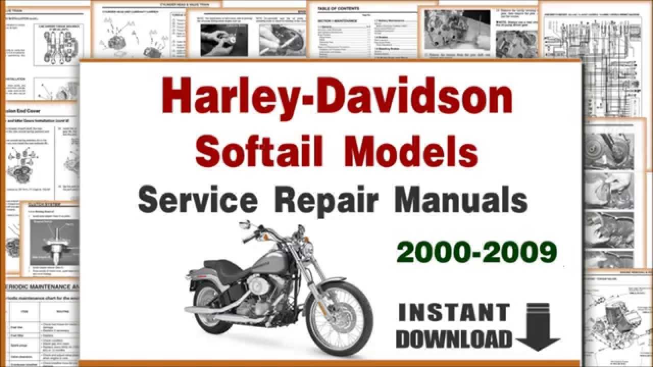 2003 Harley Softail Wiring Diagram Lewis Dot For Bromine Harley-davidson Models Service Repair Manuals 2000-2009 Pdf - Youtube
